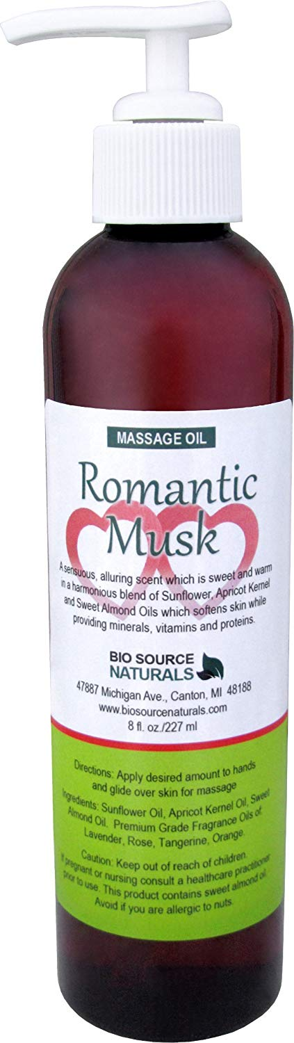 Romantic Musk Body Oil / Massage Oil 8 fl. oz. with All Natural Plant Oils