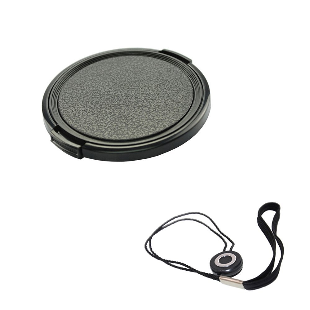FoRapid 40.5mm Side-Pinch Snap-On Front Lens Cap/Cover with Lens Cap Holder Keeper for Canon Nikon Sony Olympus Pentax all DSLR Cameras