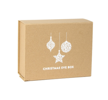 Custom cardboard kraft christmas ornament magnetic gift box