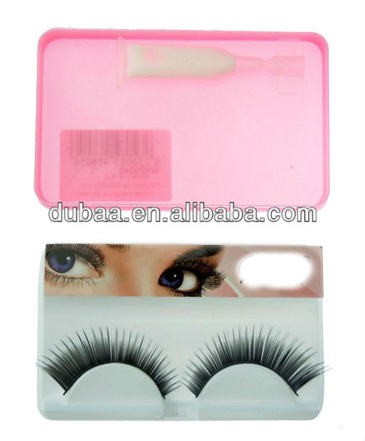 Mink Strip Eyelashes Wholesale Factory Price Mink Eye Lashes Extensions,Synthetic Mink False Eyelashes with Glue Supplier Yiwu