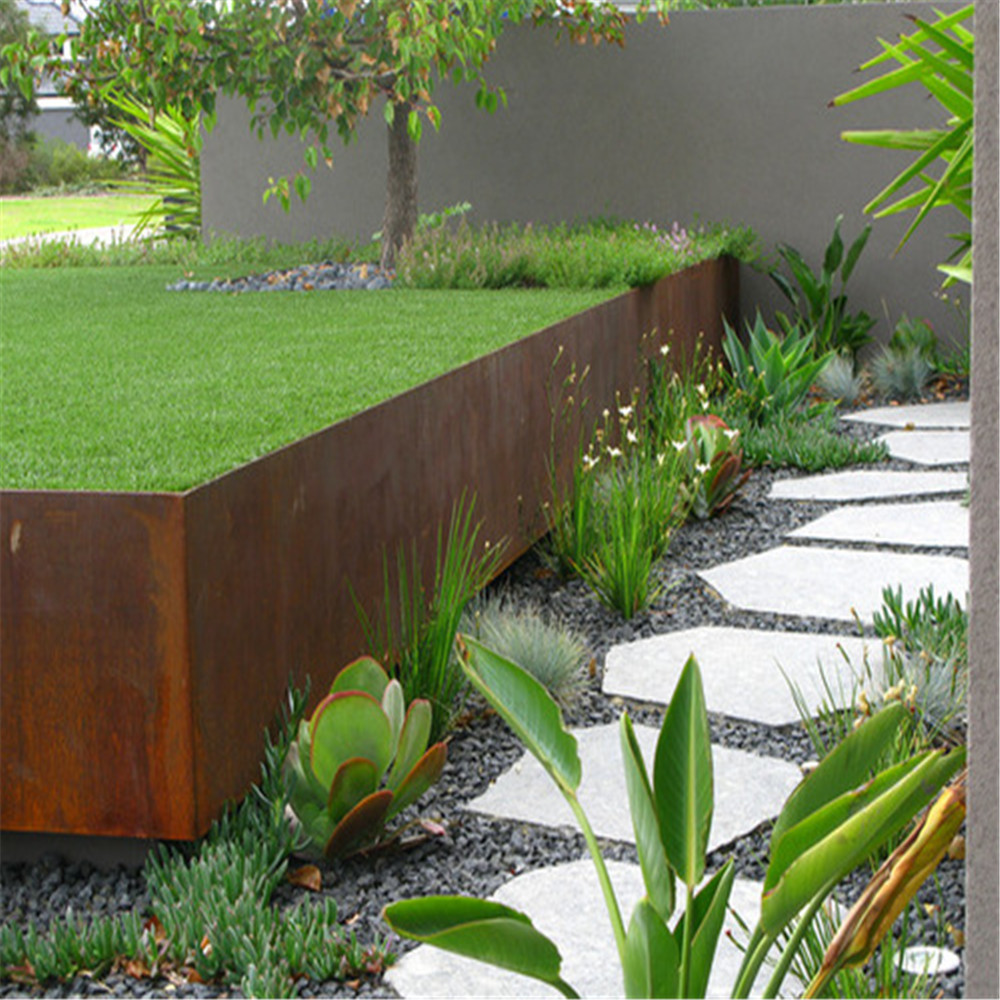Corten steel rusted metal landscape garden edging buy metal garden these corten steel garden edgings are suitable for using in such places as houses gardens streets gymnasiums theaters cinemas hotels and anywhere workwithnaturefo