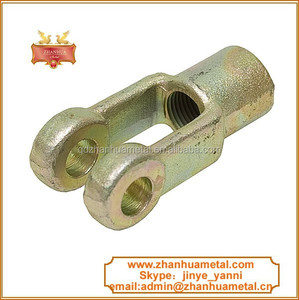 forged threaded yoke/clevis rod end with pin