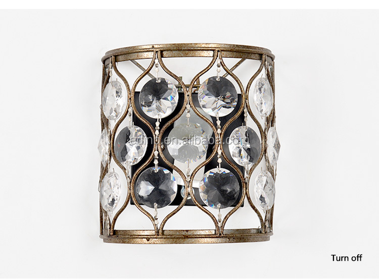 Luxury Crystal Beads Decorative Wall Sconce Gold Iron Wall Lights Living  Room Bedside Lights