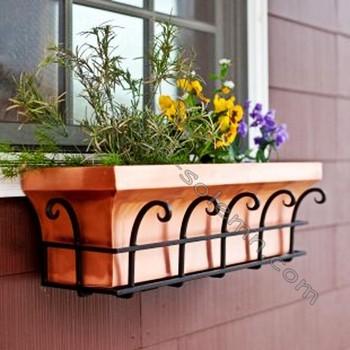 Decorative Metal Window Bo Planter Holder Box Cage Iron Wrought Product On Alibaba
