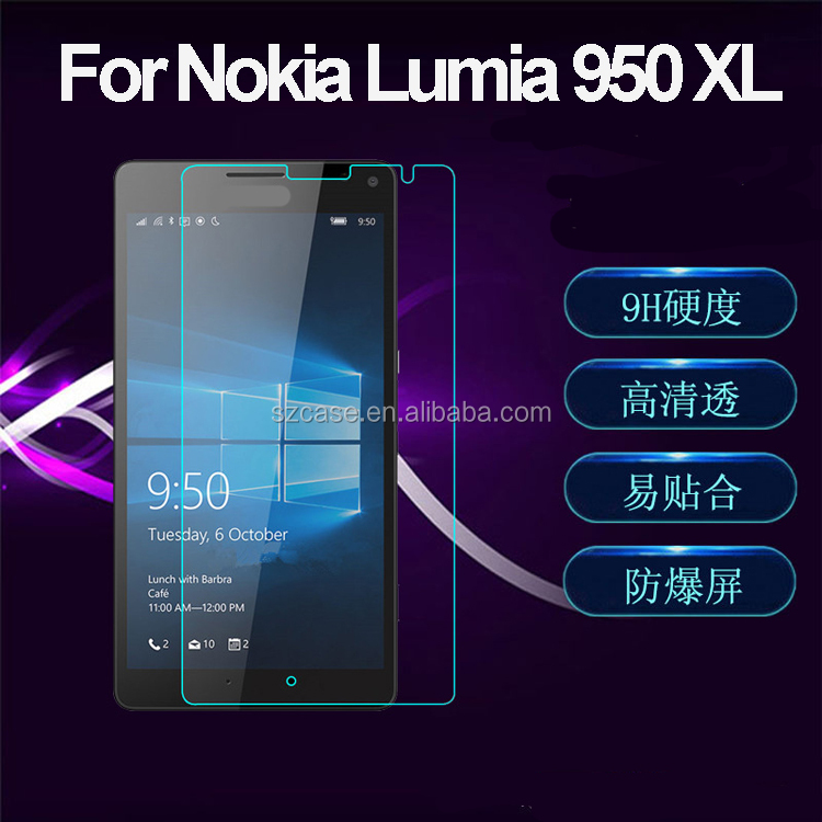 New arrival 2.5d curved edge tempered glass screen protector for nokia lumia 950 xl