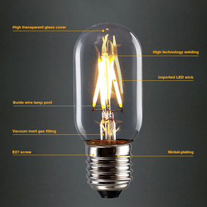 LED Bulb E27 Retro Lamps 220V 240V LED Filament Light E14 2W 4W 6W 8W Glass Ball Bombillas LED Bulb Edison Candle Light