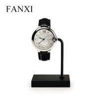 FANXI Wholesale Watch Display Stand Holder With Transparent C Ring For Bangle Bracelet Jewelry Rose Gold Metal Watch Display