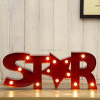 Battery Operated led marquee light letters