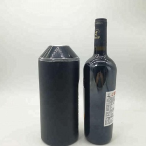 double wall vacuum insulated stainless steel wine bottle cooler
