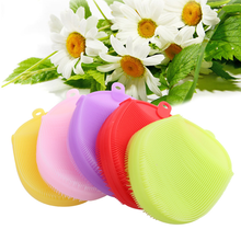 Wholesale Silicone Back Wash Scrubber Shower Body Scrub Brush Set Bath Sponge for Baby Adult
