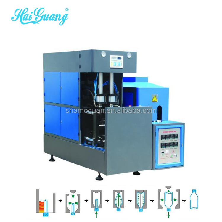 Pet bottle blow machine manufacturer india/mineral water bottle blowing mould machine
