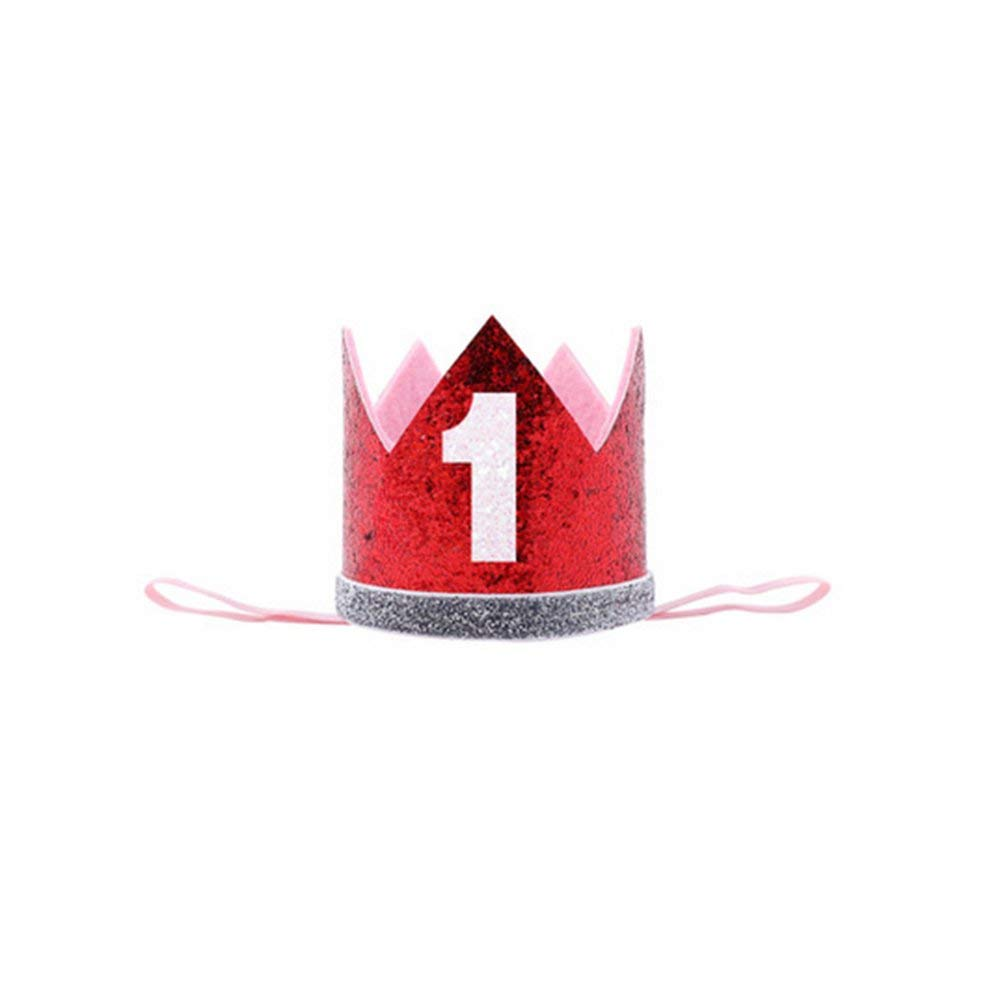 Get Quotations Boy Blue Silver First Birthday Hat Girl Gold Pink Priness Crown Number 1st 2 3 Year