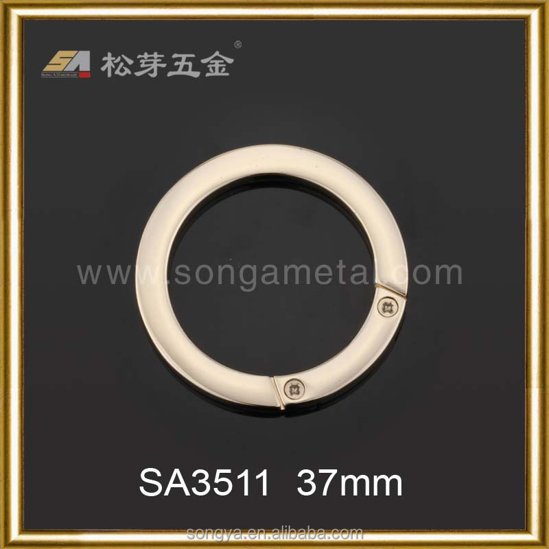 Zinc Alloy Material Metal Key O Ring, Customized Nickle Free Plated Key O Ring For Bags