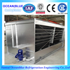 Middle temperature water cooled evaporative condenser for cold room