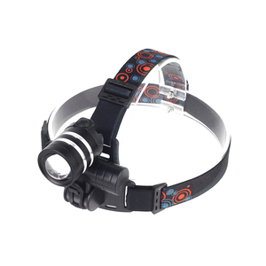 Aluminium LED Rechargeable Headlamp Headlight With USB Battery