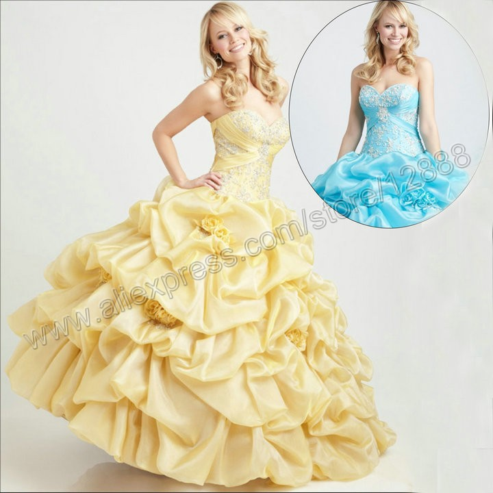 Puffy Skirt Ball Gown Without Train Sweetheart Organza