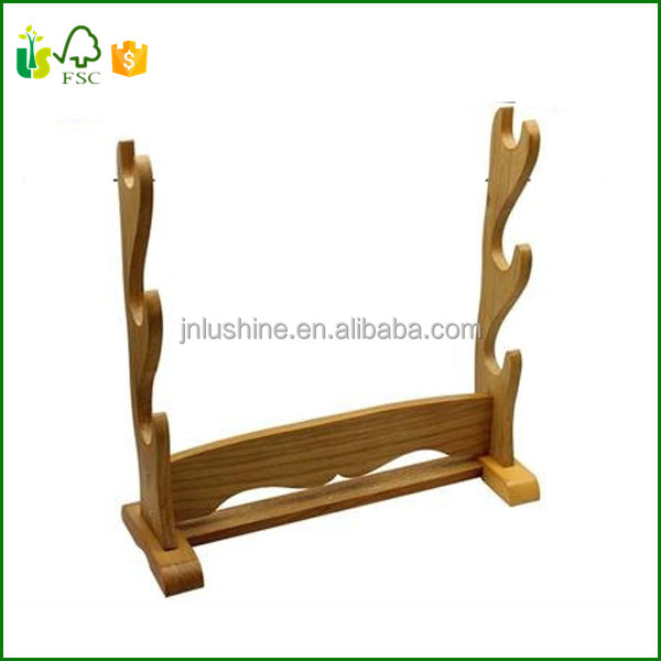 Three Tier Table Top Display Natural Wood Sword Stand   Buy Dish Washing  Tools,Kitchen Tool Hanging Rack,Common Kitchen Tools Product On Alibaba.com