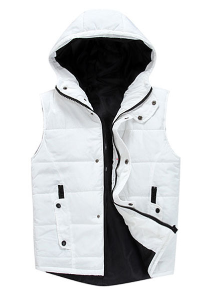 Mens Hooded Vest For Men Chaleco Hombre Waistcoat Vests Men Clothing Sleeveless Jacket Winter Coat Man