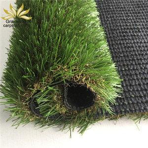 35mm Natural cheap artificial plastic grass carpet for decoration