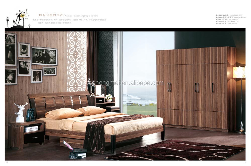 1.8 Cama. King Size Chapa De Madera Muebles De Dormitorio Para La ...