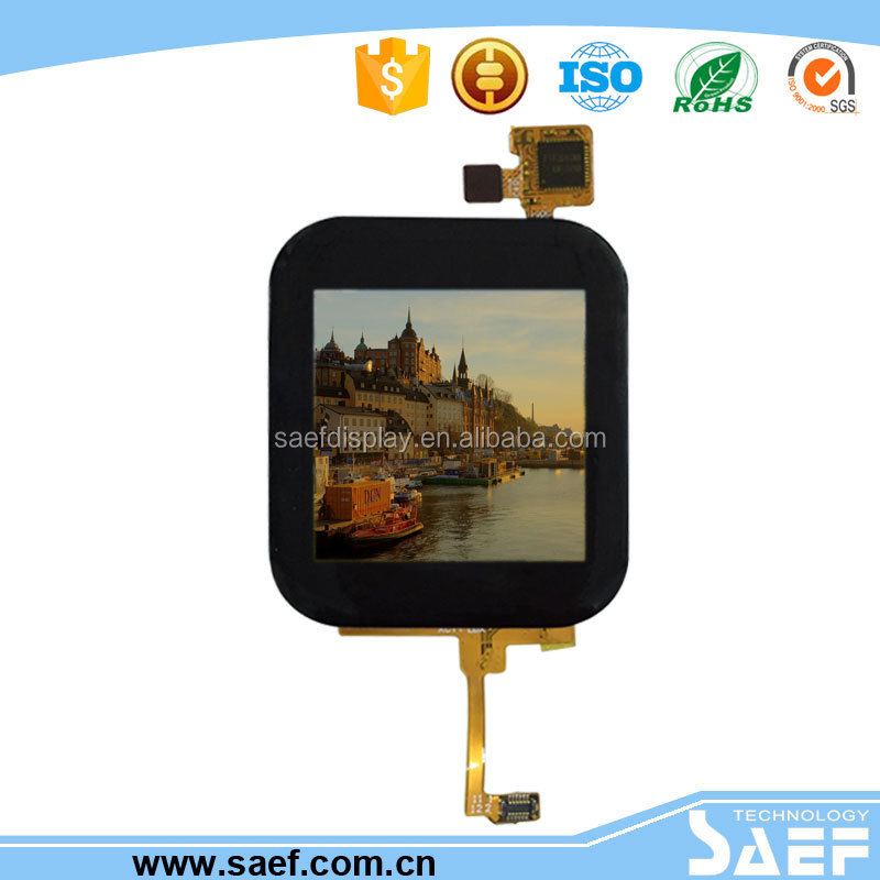 China IPS 1.54 inch 320x320 square lcd display with MIPI interface & capacitive touch screen