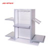 Easy to Install Anodized Aluminum Slat wall Cosmetics Display Shelving