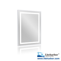Rectangle 500x700x45mm Wall Mount Bathroom Framed IP44 LED Mirror Lamp
