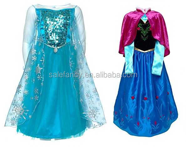 custom made elsa princess dress costume for party QKC-2125