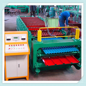 XH850-840 Double Layer Metal Roofing Sheet Trapezoid Profile Roll Forming Making Machine for Sale
