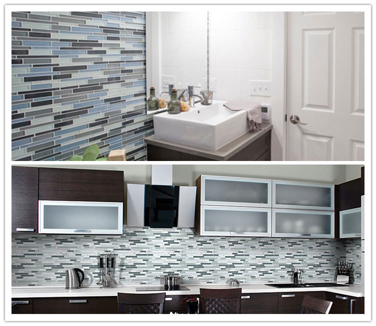 foshan factory wholesale mosaic kitchen backsplash glass