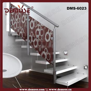 Stainless Steel Fold Up Stairs With Glass Steps