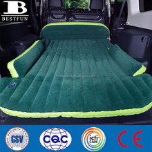 high strength flocking plastic inflatable SUV bed comfortable folding inflatable car bed universal SUV air mattress