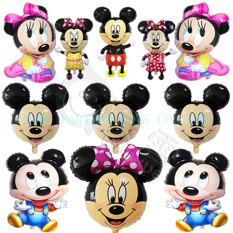 Partygo Mickey Minnie Mouse helium foil balloons birthday party decoration balloons