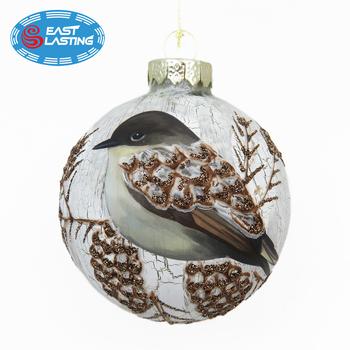 Crack Painting Christmas Decor Christmas Ornament Ball ...