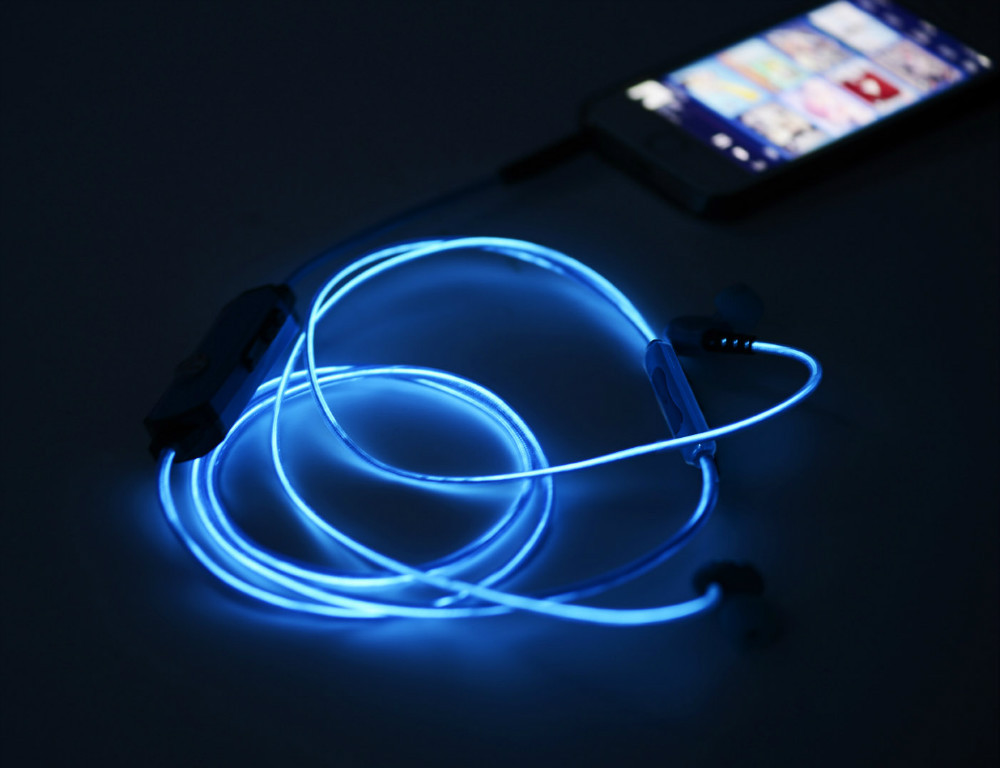 0ca0fb838cb Novelty EL Light Glowing headphones for Kids, Girls,Silent Disco Wireless  headphone for iPhone
