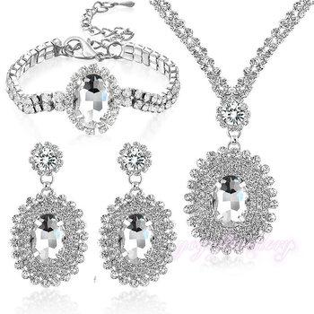 Ювелирные изделия с бриллиантами Комплекты Оптовая Продажа Дубай Свадебные  18 К золото полный комплект ювелирных изделий 5fd0a551d93