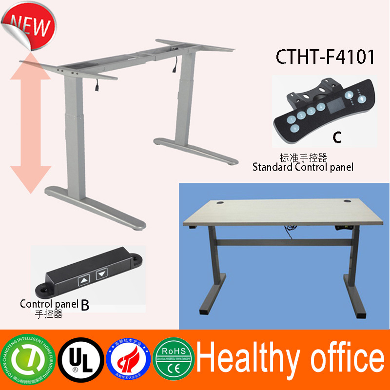 Automatic office table with electric motor & modern design furniture computer table & china supplier