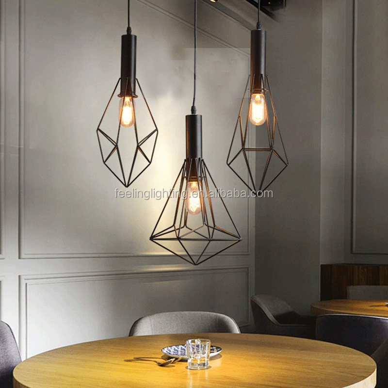 Industrial retro edison Caged Pendant Lamp decoration for cafe bar store