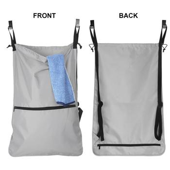 Travel Laundry Bags Camping Backpack With Extra Stainless Steel Door Hooks And Shoulder Straps Grey Trave