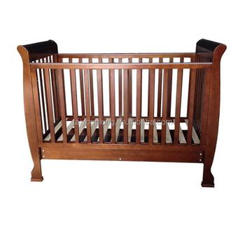Solid Wood Baby Sleigh Bed Cribs Handmade Tyl 1525