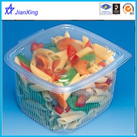 Stackable Plastic Food Storage Container With Clear Lid