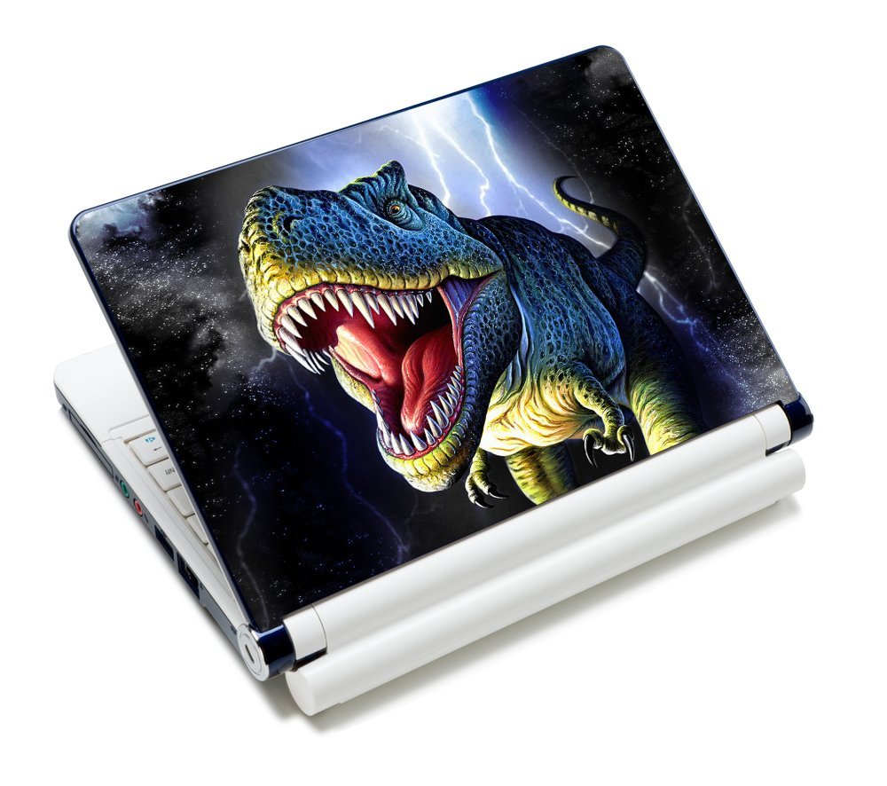 "Universal Size Laptop Notbook Decal Skin Sticker Protector Laptop Skin For 11.6"" 12"" 12.1"" 12.2"" 12.5"" 13.3"" 14"" 15"" 15.4"" 15.6"" inch Apple Mac Pro MacAir HP Asus Aser Toshiba Dell Sony Lenovo,Includes 2 Wrist Pads, Dinosaur"