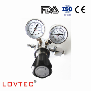 brass two stage co2 gas regulator oxygen pressure regulator with gauge