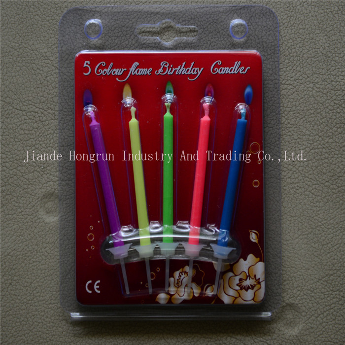5 Ct Pack Birthday Candle, Colored flame candle, Party Candle