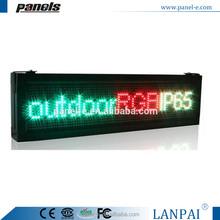 outdoor IP65 RGB Full Color LED Sign Program Digital Scroll Board