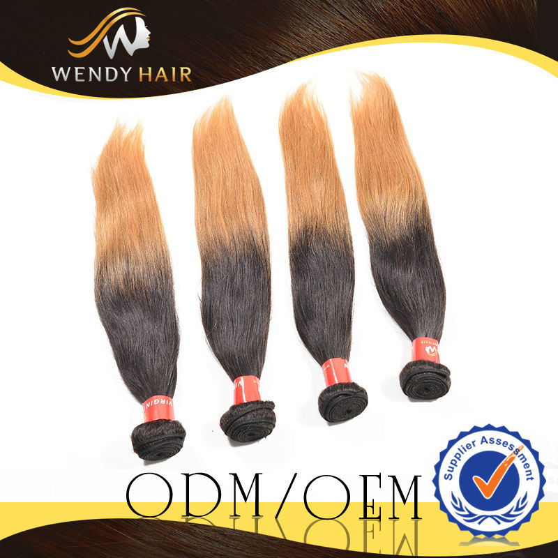 low freight sample order at wholesale price most fashionable soft ombre peruvian hair