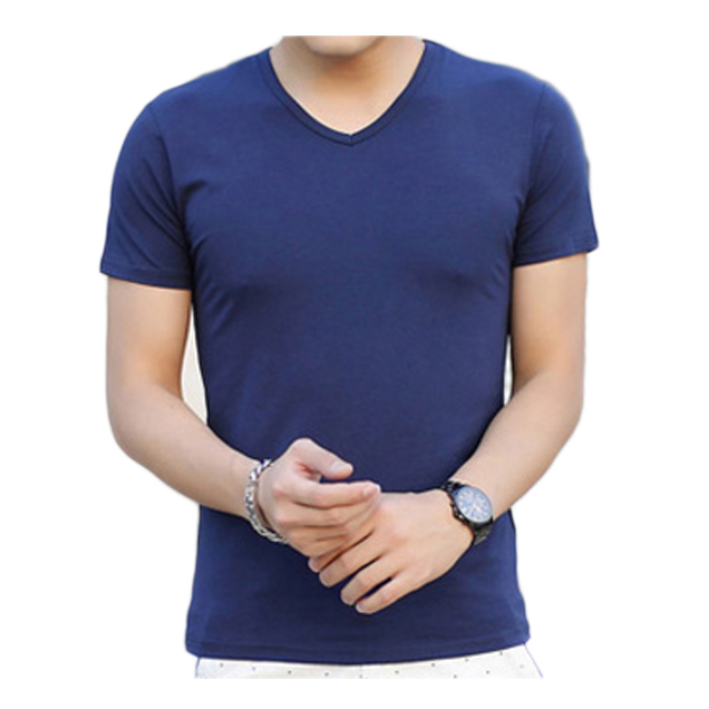 Mens 100 Cotton Xxl Soft Stylish Printed Thick Good High Quality Fashion Wide Loose V Neck T Shirt