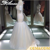 China custom fashion wedding apparel latest lace mermaid wedding dress