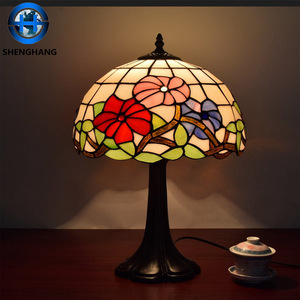 Innovative cordless tiffany lamp animals table lamp cute design glass desk lamp