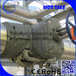 Removable and reusable thermal insulation jacket/cover applied to pipe, valve and flang